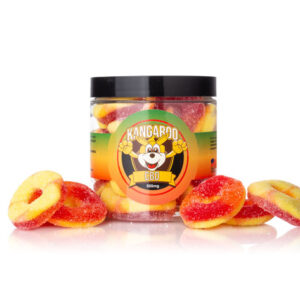 CBD Infused Peach Ring Gummies