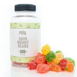 cbd infused sour gummy-bears